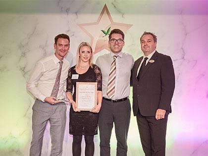 Thomas Ridley win Supplier of the Year 2018 at Center Parcs Annual Awards