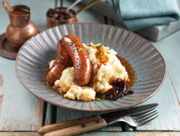Enticing Sausages and Mash